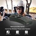 Casco de motocicleta de la bicicleta del altavoz bluetooth altavoz de los auriculares estéreo de manos libres de llamadas de voz de audio de navegación para iphone para android