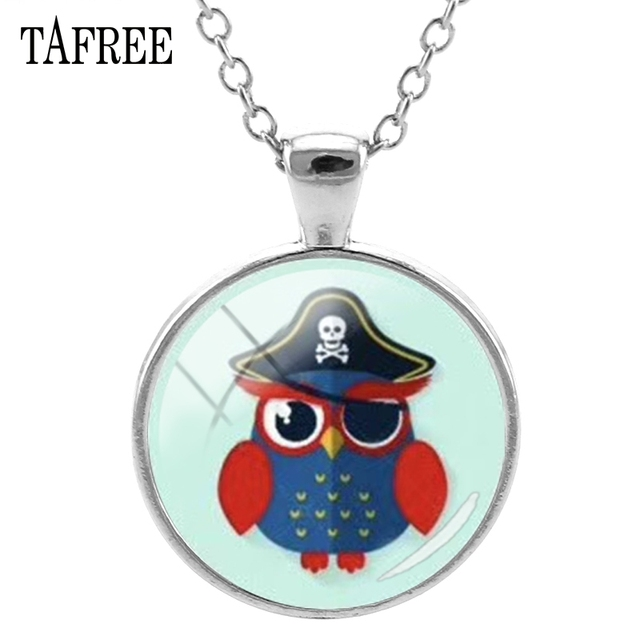 TAFREE Fashion Cartoon Owl Pendants Necklace Trendy Attractive Necklaces Pendant Chain Choker Statement For Women Jewelry OW16
