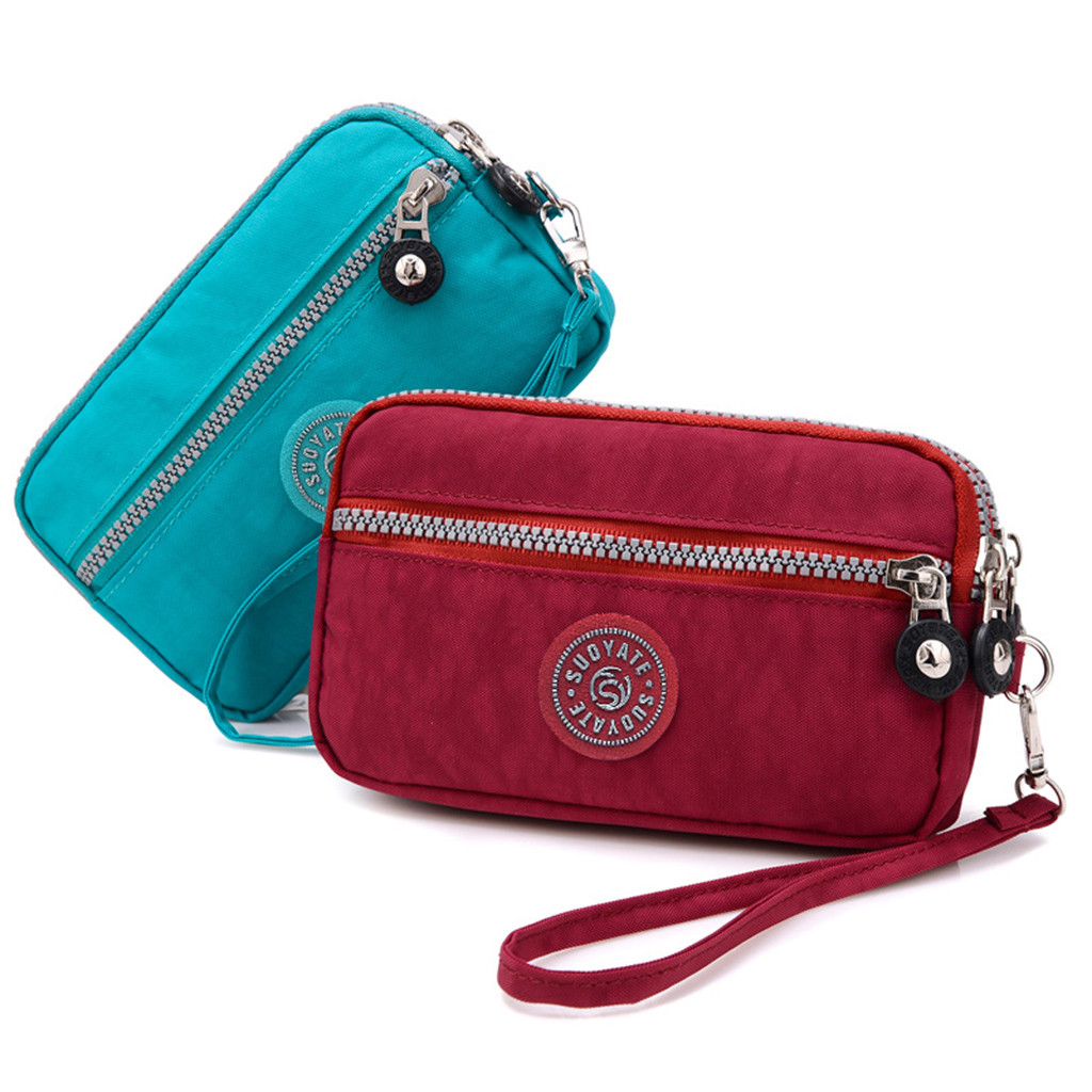 women's wallet High capacity Waterproof Solid Colors Coin Purse Mobile Phone Bags Long Wallet Wristlet money bag cartera mujer(China)