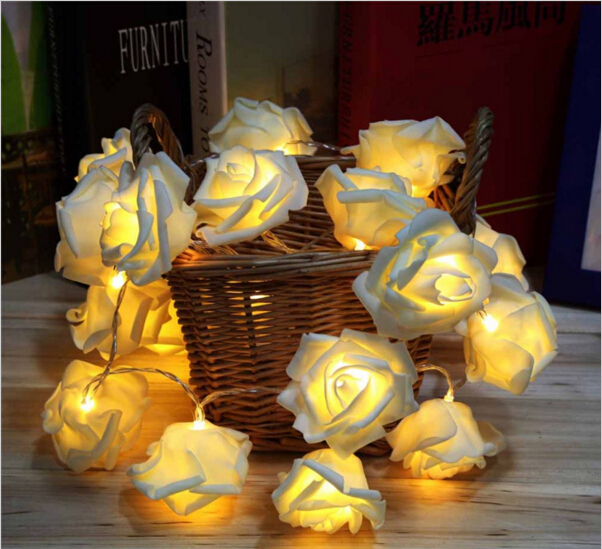 Lights & Lighting Brilliant 2m 20 Rose Battery Led String Light Christmas/wedding/party Decoration Lights Colorful Holiday Outdoor Decoration Led Light