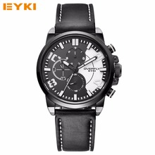 Часы Мужские EYKI TOP Brand Роскошные Кожаные Армия армия Спорт Кварцевые Часы Водонепроницаемые Наручные Часы Для Мужчин Reloj Хомбре 2016