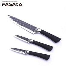 FASAKA нержавеющая сталь 3 шт. кухонные ножи кухня ножи комплект с 8 »дюймовый шеф повар 5» утилита 3,5 »для очистки овощей в специальное лезвие дизайн