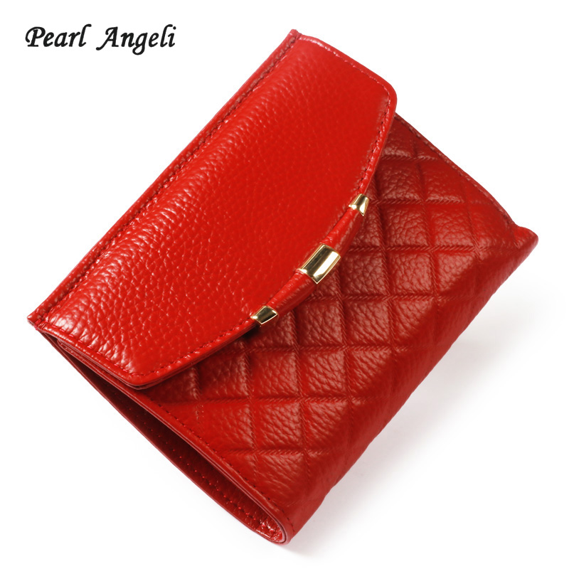 Pearl Angeli Rfid Genuine Leather Women Wallet Lady short Wallet Female Coin Purse WomenS wallet Purse Clutch Handy Portomonee