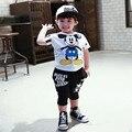 Новые дети мальчики одежда наборы дети младенца костюмов футболку и брюки комплектов одежды для детей дети экипировка 2-7y