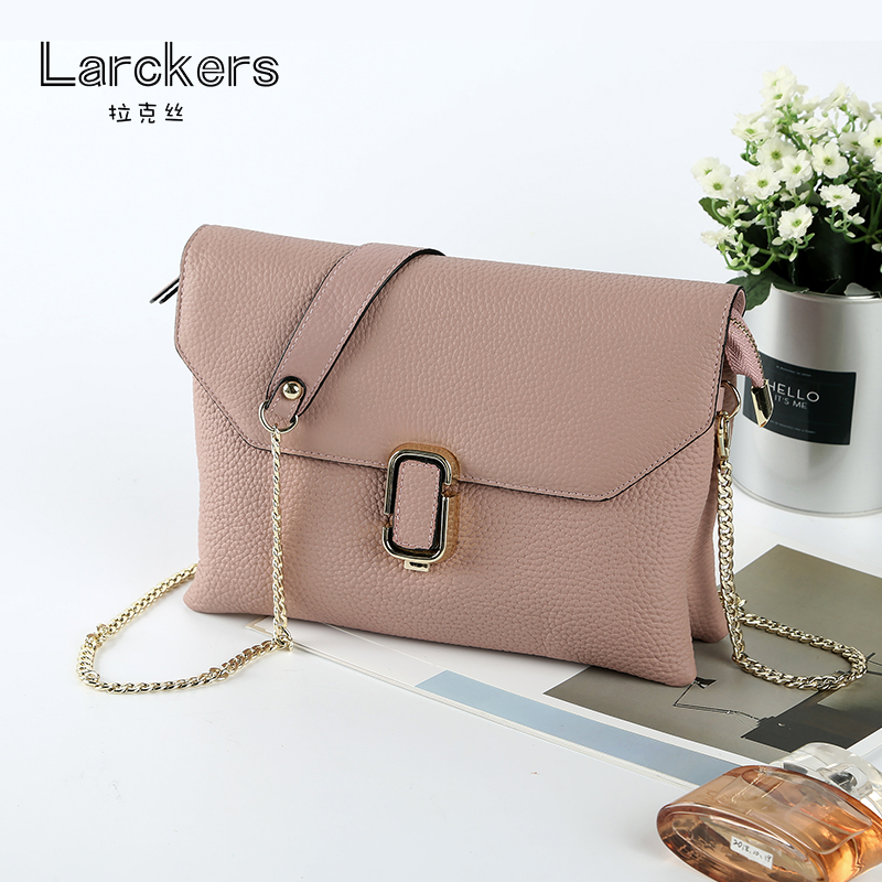 Handbag Chain Shoulder-Bag Fashion Clutch Genuine-Leather High-Quality Ladies Envelope
