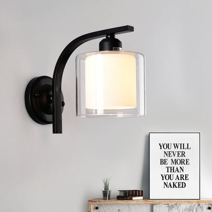 Creativity Wall Lamp Bedroom Wall Lamps Simple Glass Wall Led Light Modern Indoor Lighting Wall Lamps Includes LED Bulb modern lamp trophy wall lamp wall lamp bed lighting bedside wall lamp
