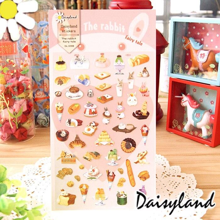 5 pcs /1 lot scrapbooking stickers post it stationery Little bunny scrapbook paper kawaii stickers stationary/ Daisyland 1098