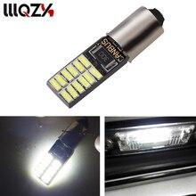 1x Carro LEVOU ba9s t11 t4w h6w BA9S 24 SMD 4014 Lâmpada LED Sem erro Canbus led carro estacionamento estilo luz de Nevoeiro Auto lâmpadas univera