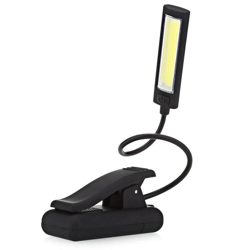 led cob book light adjustable clip on reading light music stand light lamp outdoor camping home. Black Bedroom Furniture Sets. Home Design Ideas
