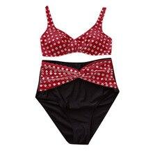 2019 Summer Plus Size Bikini Set For Women Sexy Halter Top Push Up Bikini Large Size Swimwear S-5XL Beach Bathing Suit 4XL N50