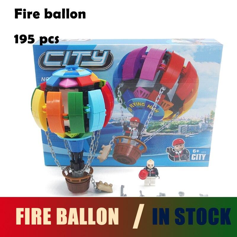 Compatible with lego city Ausini Model building kits Fire ballon blocks Educational model & building toys hobbies for children