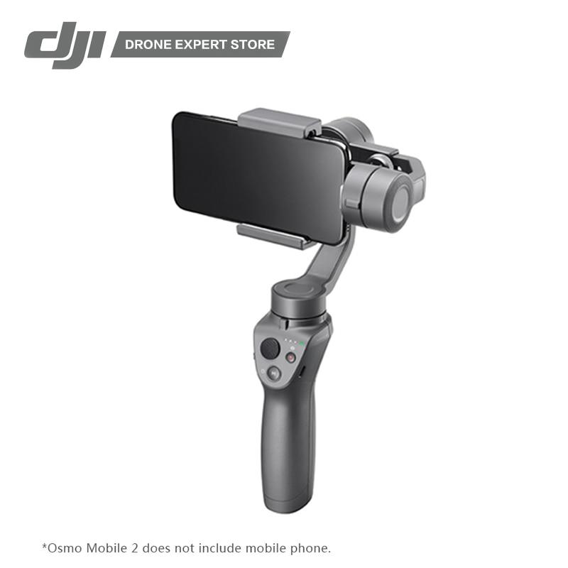 DJI Osmo Mobile 2 De Poche Cardan 3-Axe Cardan Stabilisateur pour iPhone 8X Samsung Huawei Xiaomi Tir lisse Vidéo