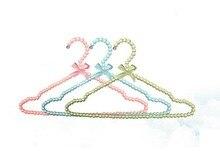 5pcs/lot 40cm High-grade pearl clothing hangers women plastic hanger clothes rack wedding dress hangers