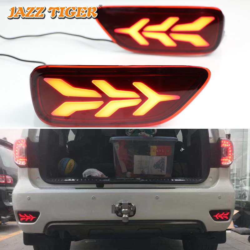 JAZZ TIGER 2PCS Car LED Rear Fog Lamp Brake Light Turn Signal Light Bumper Decoration Lamp