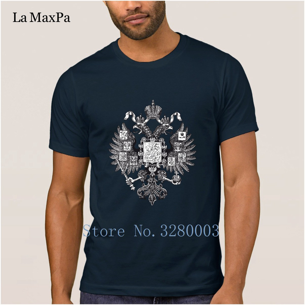 64b5bfb1a Classical mens t shirt gerb rossii old coat of arms of russia eagle t-shirt