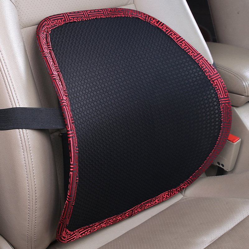 40*40cm Mesh Car Seat Cushion Waist Protection Waist Support Breathable Lumbar Pillow Office Chair Back Pain Auto Accessories