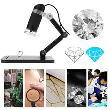 On sale Professional 360 Degree Rotation 50X-500X Digital USB2.0 8 LED Microscope Handheld Repairing Medical Magnifier with Bracket