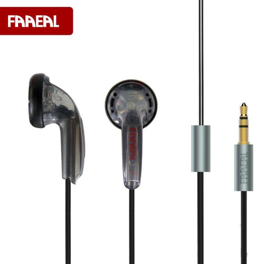 Original FAAEAL HIFI Earphone 32Ohm DIY Heavy Stereo Bass Sound Quality Music Earphones DJ Sport Earphones Universal 3.5MM Jack