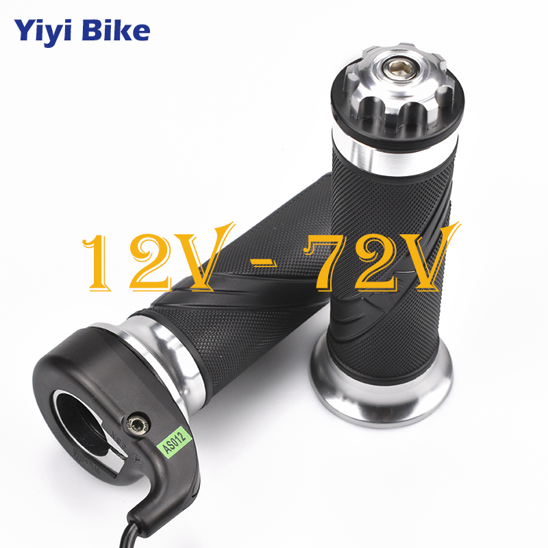 Bicicleta Electrica Twist Throttle 12V - 72V For Electric Bicycle Scooter Motorcycle Speed Gas Handle Throttle Accelerator Kit