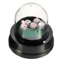 Новая продажа, автоматический кубик-ролик, чашка с питанием от аккумулятора, бар, Вечерние игры с 5 кубиками, черный