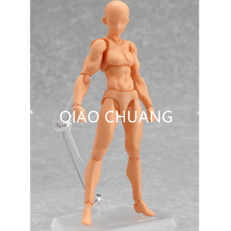 4Pcs BODY The Skin Color Gray Male Female He She Movable PVC Action Figure Collection Model Toy 14.5CM RETAIL BOX G111