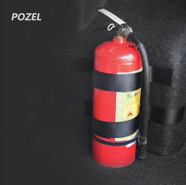 Black Roll Bar Fire Extinguisher Holder Car Styling For