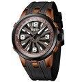 Мужские часы Топ бренд класса люкс кварцевые часы для мужчин BIDEN уникальное творчество поворот циферблат военные спортивные наручные часы ...
