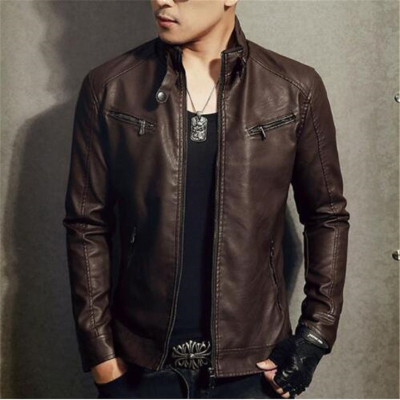 Jacket Genuine-Leather Sheepskin Moto Biker-Teenage Slim Autumn Male Short Spring Zipper