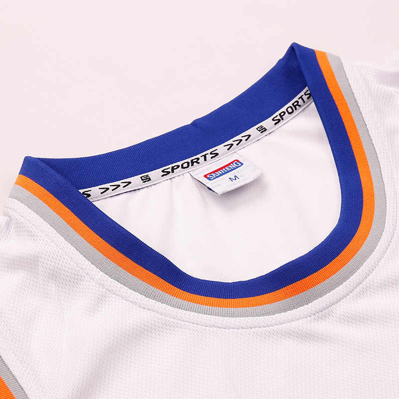 SANHENG Men's Basketball Jersey Competition Uniforms Suits Breathable Sports Clothes Sets Custom Basketball Jerseys Shorts 302AB