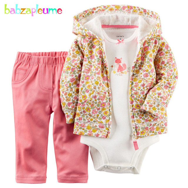 fb4a39276 3PCS 0 24M spring autumn baby boys girls clothes newborn tracksuit ...