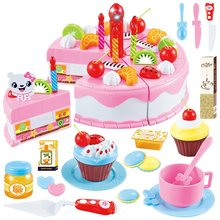 DIY cake toys cooking food imagination games birthday fruit toys educational gifts for children pink blue toy kitchenno box(China)