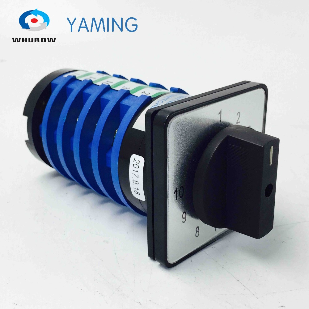 цена на Yaming electric 32A 380V Welding machine rotary switch 10 position 5 poles main universal changeover switch KDHC-32/5*10