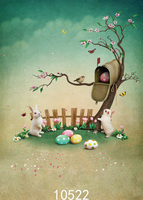 Thin vinyl rabbits easter theme backgrounds for photo studio Photography Backdrops photo Background Photo Studio Prop Backdrop