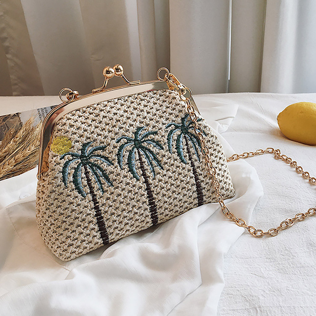 2019 Straw Bags Women Summer Rattan Bag Handmade Woven Beach Cross Body Bag hasp Bohemia Handbag chain bolso mimbre redondo2019 Straw Bags Women Summer Rattan Bag Handmade Woven Beach Cross Body Bag hasp Bohemia Handbag chain bolso mimbre redondo