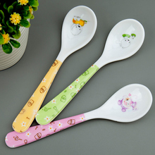 SMDPPWDBB 2 pieces/set Free shipping Small Bone China Handle  Spoon Lunch  Stirring Soup Spoon tableware