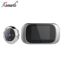 Akıllı elektronik deurbel kamera Video Peephole kapı Mirilla dijital Puerta kapı görüntüleyici IR ledler ile
