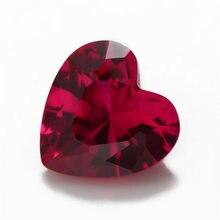 Синтетические драгоценные корундовые камни в форме сердца размер