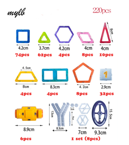 mylb 220pcs Mini Building blocks toys for children magnetic constructor toy magnet designer magnet game magnet toy magnetic