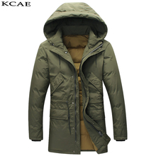Winter Men s Long Design Business Down Jackets Mens Luxury Fashion Thick Warm Fur Collar Hooded