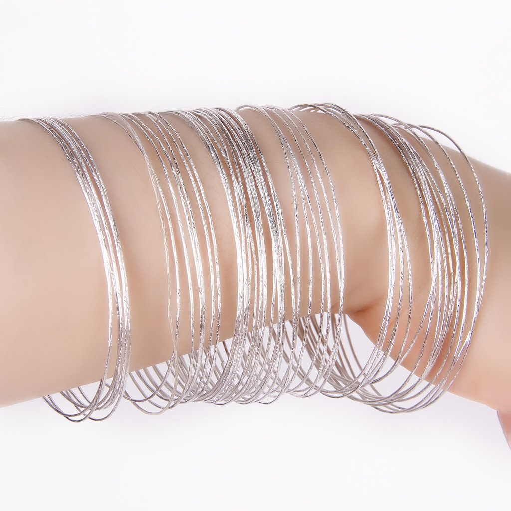 silver jewels stacking bangles bracelets bangle hand wide bracelet layering thin of personalized stamped string