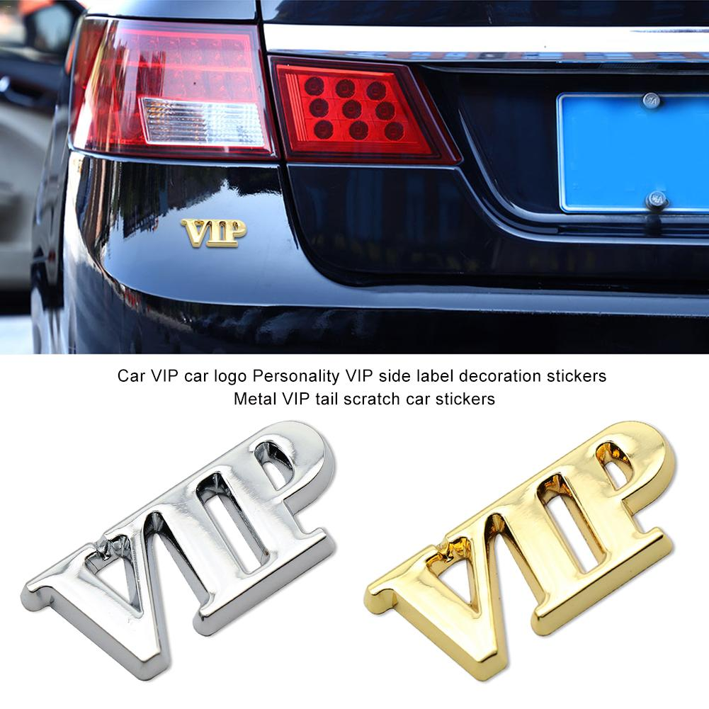 Car Metal Sticker 3D Stereo VIP Emblem Decal Side Body Styling Decoration