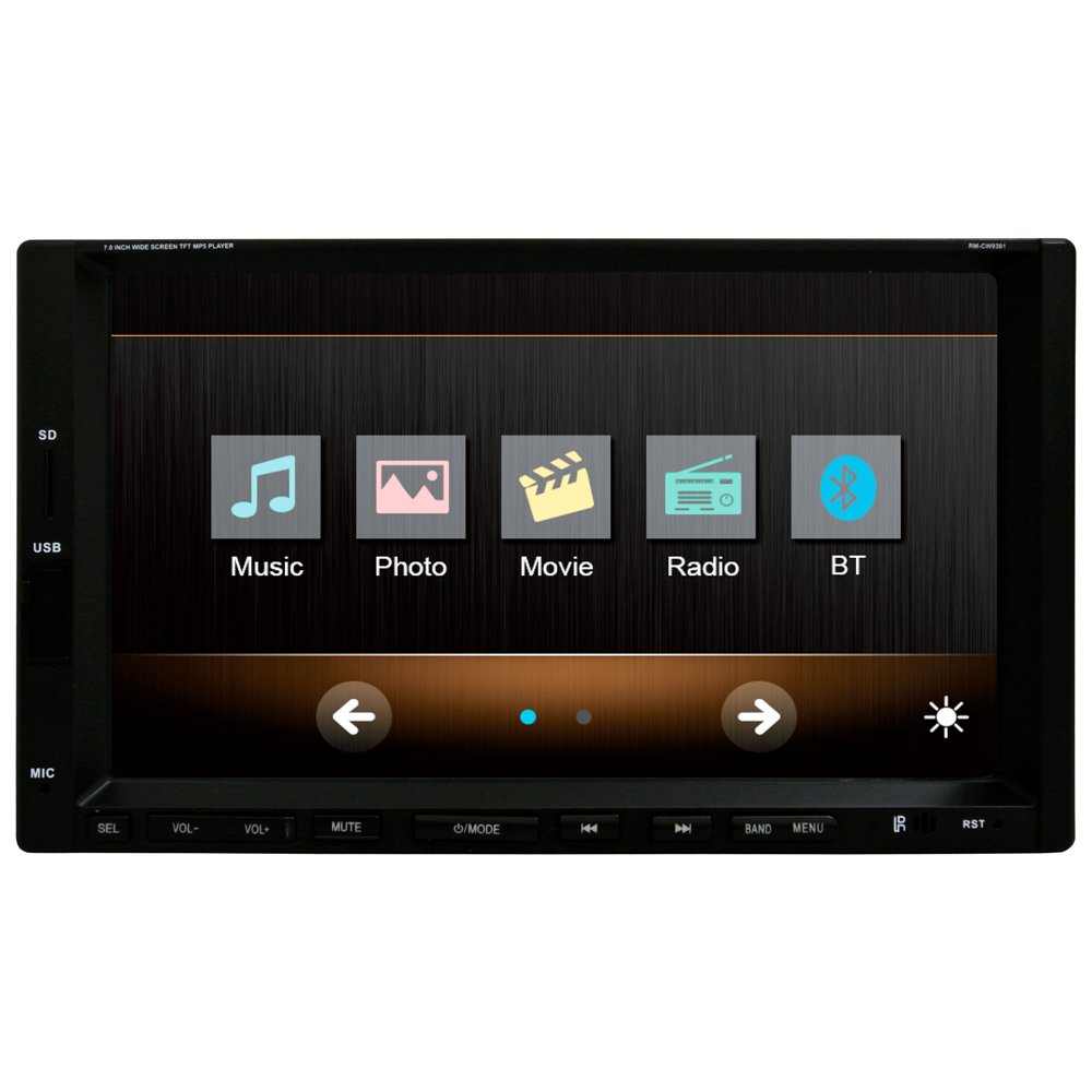 7 Inch 2 DIN Universal Car MP5 multimedia Player Touch Screen Car Stereo Radio FM /USB /SD Bluetooth steering wheel control 7021g 2 din car multimedia player with gps navigation 7 hd bluetooth stereo radio fm mp3 mp5 usb touch screen auto electronics