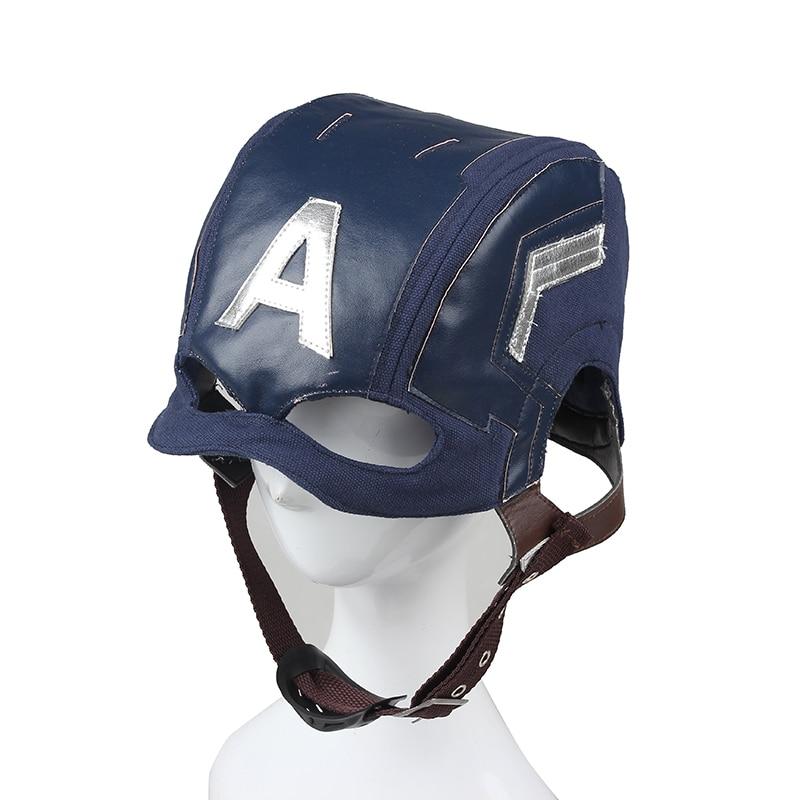 Captain America Helmet for Adult Civil War Cosplay Mask Steve Rogers Cosplay Mask Helmet Superhero and Sci-fi Props Custom Made