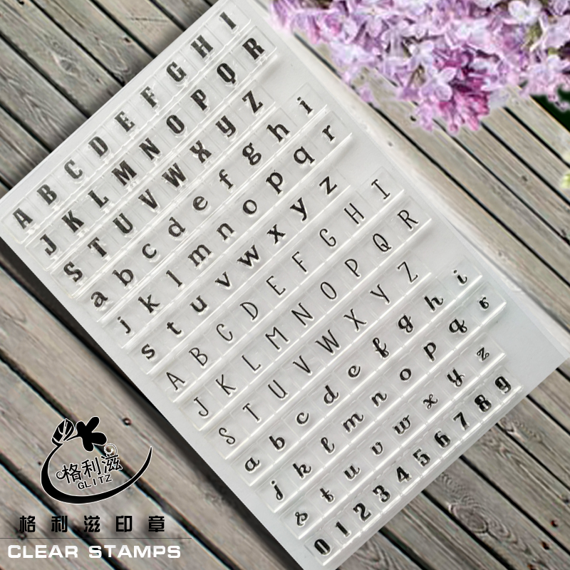 LETTERS &NUMBERS DIY Transparent Clear Stamp for Scrapbppking Photo Album Paper Craft