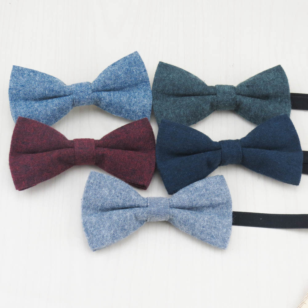 New Fashion Imitation Wool Kids Bow Tie Cute Candy Colors Baby Bowtie Flower Girl Tuxedo Accessory Boys Children Bow Ties