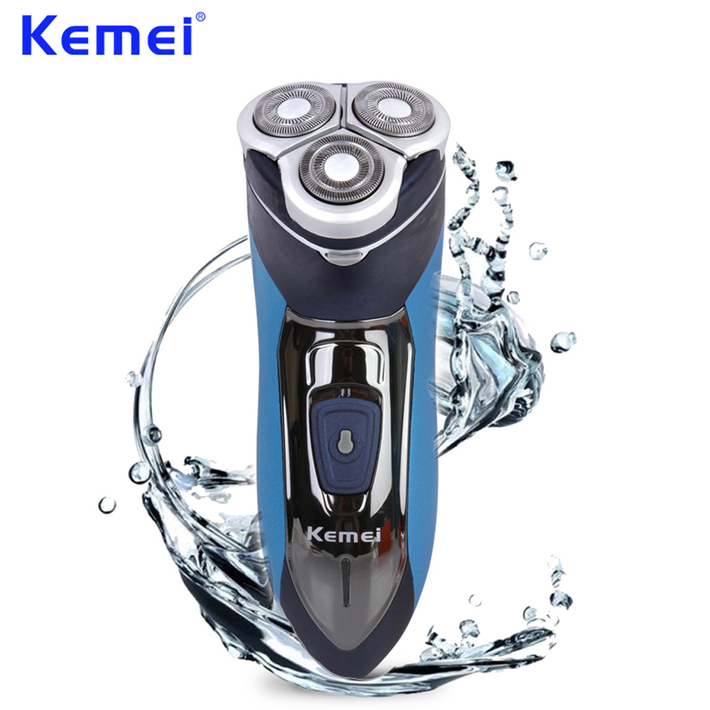 KEMEI 2 In 1 Washable Shaver Rechargeable Hair Clipper Hair Trimmer Triple Blade Shaving Machine rasoio elettrico kemei BT-079 lonbv lch 8560 12w rechargeable hair clipper 220v 2 flat pin plug