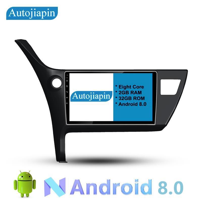 AUTOJIAPIN 10,1 восемь основных Android 8,0 2 г Оперативная память 1024*600 автомобильный навигатор для TOYOTA COROLLA 2017/ auris 2009 с Сенсорный экран