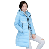 2017 New Warm Winter Long High Quality Cotton Female Coat Slim Women Hooded Zipper Leisure Outerwear