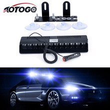 12LED Car Flash Light Warning Lamp Dash Emergency Strobe Bar Police Curren Fog Lights