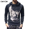 Men Sweatshirts Skull Graphics Cotton Long Sleeves Hoodie Graphic Sweatshirt Man Casual Outerwear Fashion Street Clothing